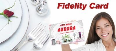 Arriva la nuova Fidelity Card di Aurora Lista Nozze
